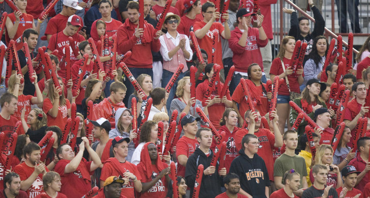 The student section at a college game