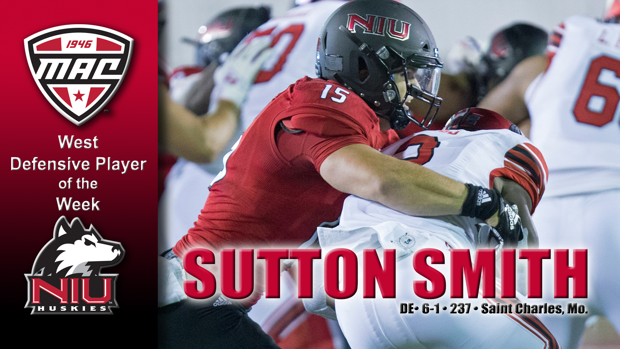 meet d4247 abc9b Smith Earns MAC West Player of the Week - NIU Athletics